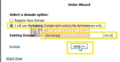 Masukkan Nama Domain