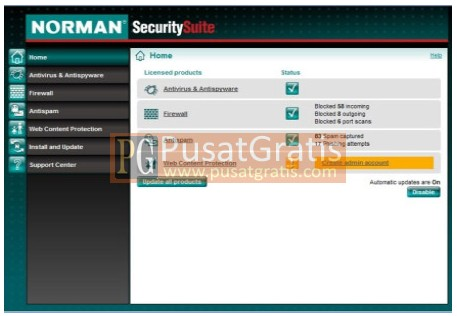 Screenshot Norman Antivirus