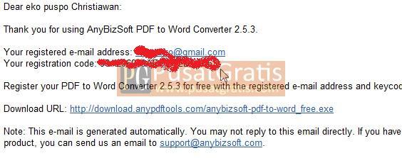 Key Terkirim Ke Email Anda