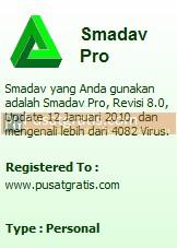 Lisensi Smadav Pro Original dari PG