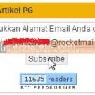 Masukkan Alamat email dan klik Subscribe