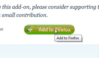 Klik add to firefox