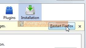 Klik Restart Firefox