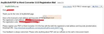 Dapatkan Lisensi Legal dan Original di email anda