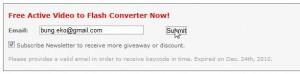 Isikan Email anda di SnowFox Form