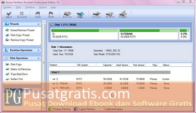 Mempartisi Hardisk dengan Partition Assistant Pro 3.0
