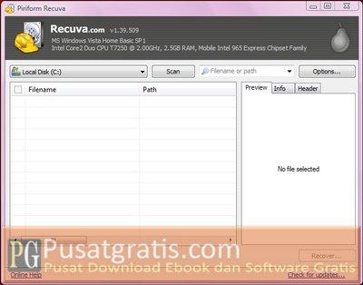 Mengembalikan File yang Terhapus dengan Recuva File Recovery