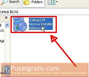 Double Klik installer Recuva File Recovery