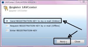Klik Send Key (Online)