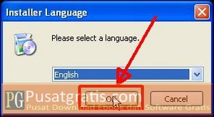 Pilih bahasa dan klik OK