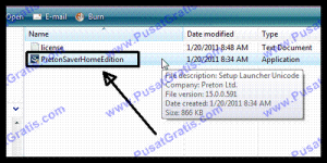 Double Klik Installer PretonSaver Home Edition