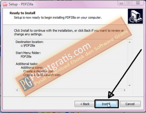Klik Install