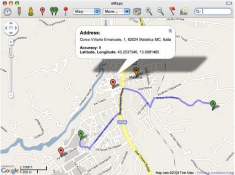 eMaps Gratis untuk Mac OS X