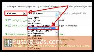 Pilih Sistem Operasi dan Bahasa LibreOffice
