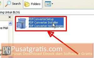 klik dua kali untuk menginstall Foxtab PDF Converter