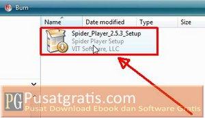 Double Klik Installer Spider Player Pro