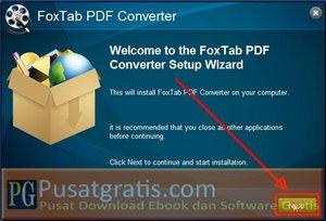 Klik Next untuk Menginstal Foxtab PDF Converter