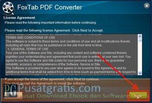 Klik Next untuk melanjutkan instalasi Foxtab PDF Converter
