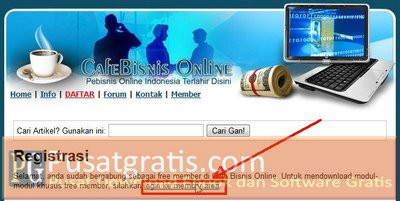 Klik Login Ke Member Area