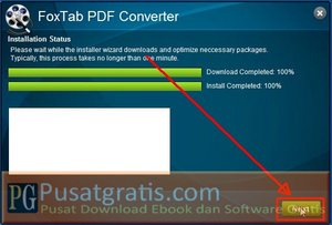 Klik Next untuk menginstall Foxtab PDF Converter