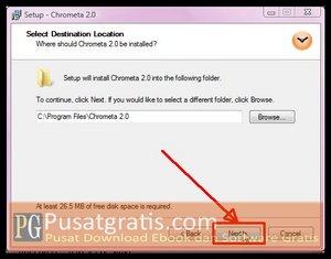 Klik Next beberapa kali Untuk Menginstal Chrometa 2 Full Version