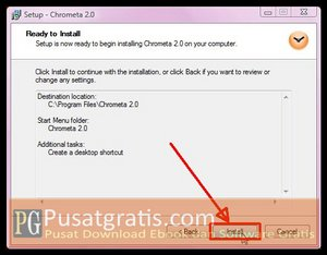 Klik Install Untuk Menginstal Chrometa 2 Full Version