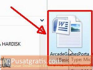 Buka file yang ingin anda Convert menjadi PDF