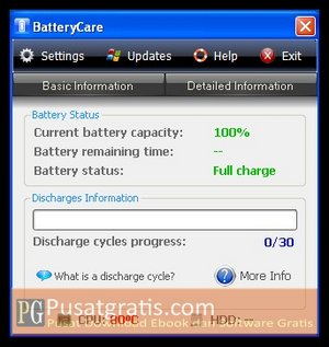 BatteryCare : Software Untuk Membuat Baterai Laptop Anda Lebih Tahan Lama!