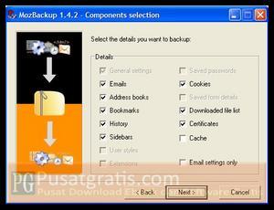 Backup Setting Profile Mozilla Anda dengan MozBackup