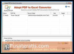 Mengubah file PDF menjadi Excel dengan PDF to Excel Converter