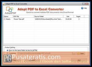 Mengubah file PDF menjadi Excel dengan PDF to Excel Converter