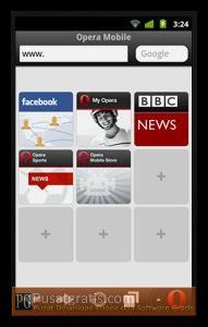 Tampilan Opera Mini 6 dan Opera Mobile 11 lebih Clean dan Elegan