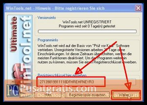 Masukkan Lisensi wintools.net ultimate edition full version