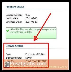 Lisensi WinUtilities Professional Edition 9.97 anda Telah Aktif