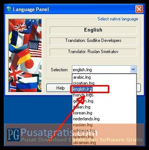 Pilih Bahasa wintools.net ultimate edition full version yang anda inginkan