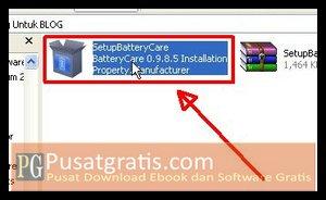 Double Klik Installer BatteryCare untuk Menginstall BatteryCare