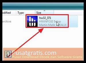 Double Klik Installer untuk menginstall HWiNFO32