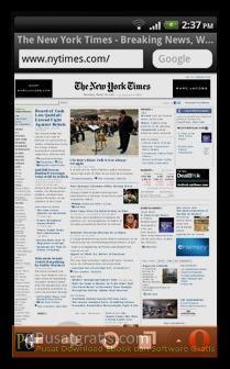 Menampilkan halaman Web di Mobile Phone secara Utuh seperti di PC