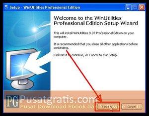 Klik Next untuk menginstall WinUtilities Professional Edition 9.97