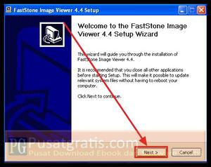 Klik Next untuk menginstall FastStone Image Viewer