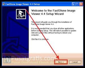 Klik Next untuk menginstall FastStone Image Viewer