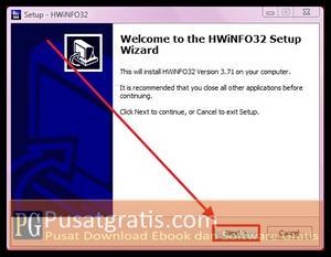 klik finish beberapa kali untuk menginstall HWiNFO32