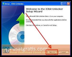 Klik Next Untuk Menginstall IObit Installer