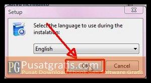 Pilih Bahasa yang anda inginkan dan klik OK untuk Menginstall Backup4all Lite