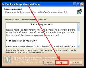 Klik I Agree untuk menginstall FastStone Image Viewer