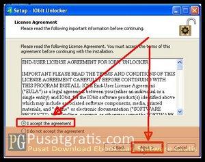 Pilih I Accept dan klik Next Untuk Menginstall IObit Installer