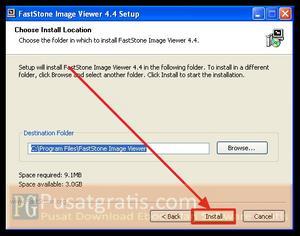 Klik Install untuk menginstall FastStone Image Viewer