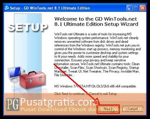 Klik Next untuk menginstall wintools.net ultimate edition full version