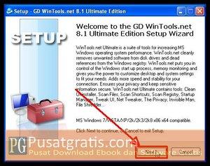 Klik Next untuk menginstall wintools.net ultimate edition full version
