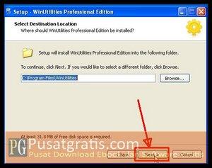 Klik Next beberapa kali untuk menginstall WinUtilities Professional Edition 9.97